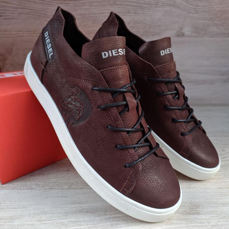Кеди Diesel (дизель) чоловічі шкіряні кеди (кросівки,туфлі) натуральна шкіра
