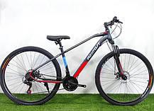 """Підлітковий гірський велосипед Azimut Gemini 24 розмір рами 15"""" сіро-зелений, фото 2"""