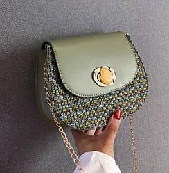 Женская сумка в стиле Ретро (оливковая)