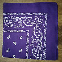 Бандана классическая фиолетовая 55х55 см