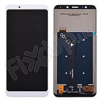Дисплей для Xiaomi Redmi 5 Plus с тачскрином в сборе, цвет белый