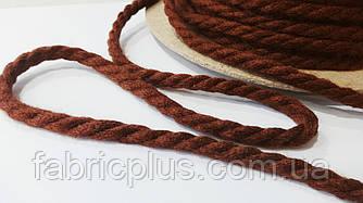 Шнур акриловый 8 мм коричневый