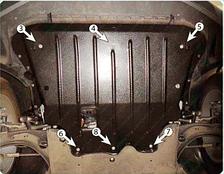 Защита двигателя Seat Tarraco (с 2018—) 2.0TDI Полигон-Авто