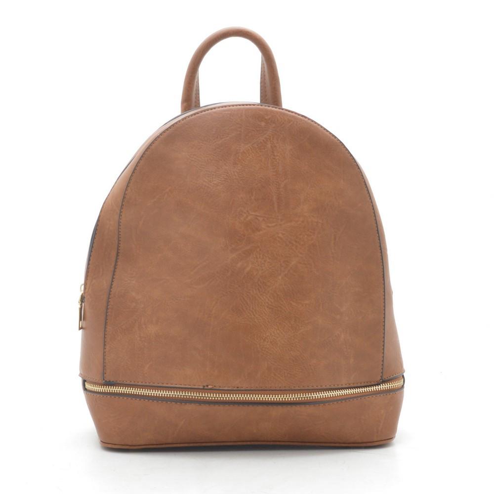Женский небольшой рюкзак коричневый