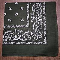 Бандана классическая темно-зеленая 55х55 см