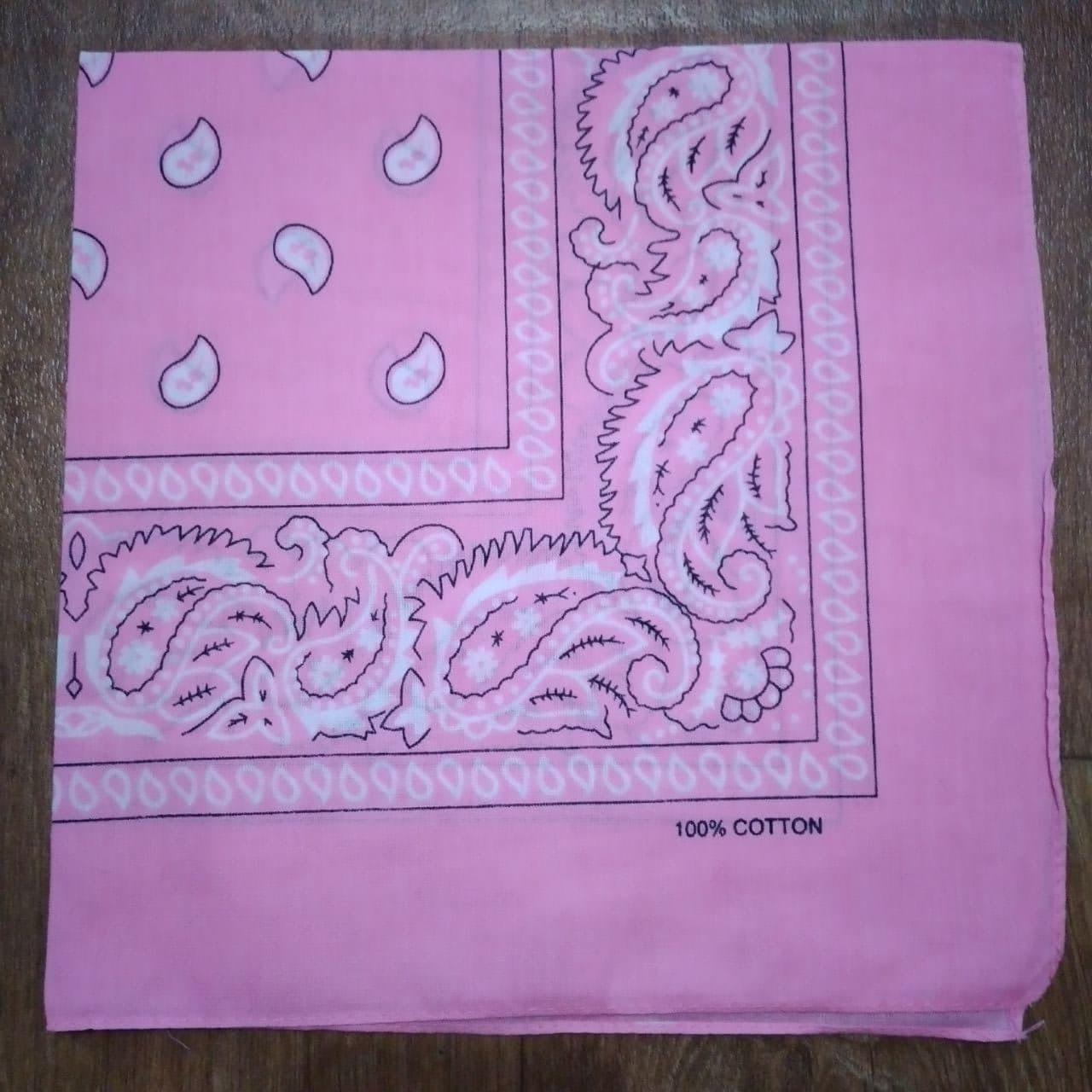 Бандана классическая розовая 55х55 см