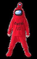 Красный костюм among us