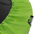 Батут для детей с сеткой, диаметр 140 см, цвет черно-зеленый, фото 2