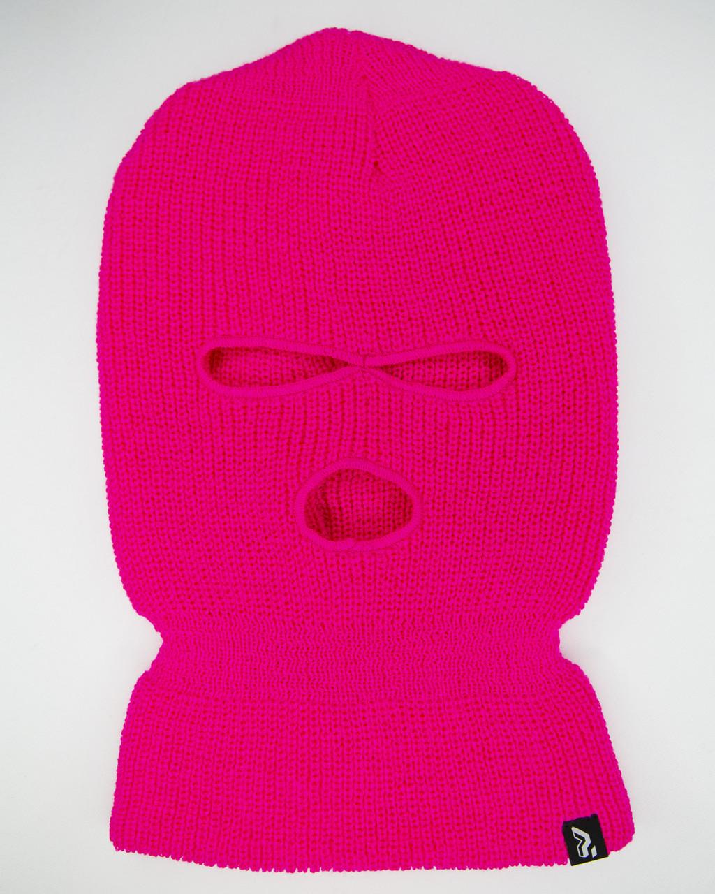 Шапка зимняя Billie Eilish розовая