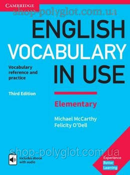 Книга English Vocabulary in Use Third Edition Elementary with eBook and answer key