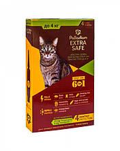 Капли от блох, клещей и гельминтов для кошек Palladium Golden Defence (Extra Safe) весом до 4 кг