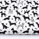 """Лоскут ткани """"Далматинцы"""", чёрные на белом, №3087, размер 31*80 см, фото 2"""