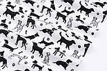 """Лоскут ткани """"Далматинцы"""", чёрные на белом, №3087, размер 31*80 см, фото 5"""