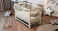 Ліжко дитяче Дубик-М Веселка на шарнірах з підшипником + відкидна боковина слонова кістка