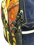 Джинсовый рюкзак Сказочный кот 6, фото 2