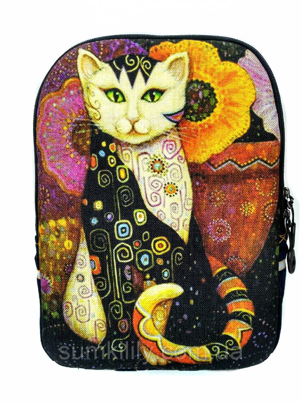 Джинсовый рюкзак Сказочный кот 6