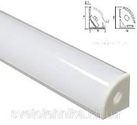 Профиль для светодиодной ленты круглый угловой , ПФ9 (аналог Feron CAB280)