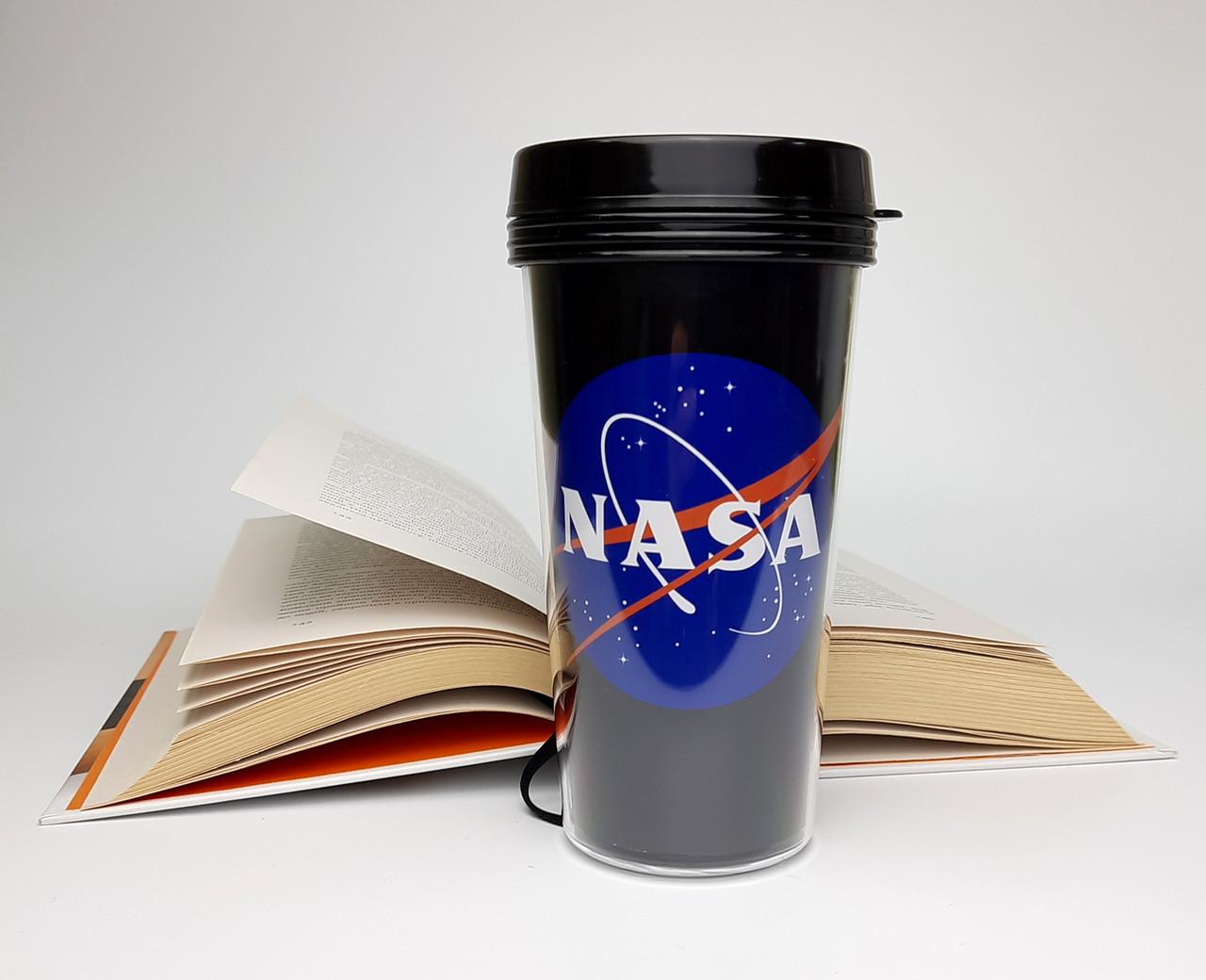 """Стакан для кофе c двойными стенками и крышкой  """"NASA"""" -  дорожный стакан для любителей космоса"""