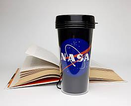 """Стакан для кави c подвійними стінками і кришкою """"NASA"""" - дорожній стакан для любителів космосу"""