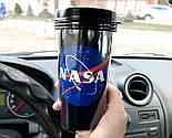 """Стакан для кофе c двойными стенками и крышкой  """"NASA"""" -  дорожный стакан для любителей космоса, фото 3"""