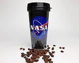 """Стакан для кофе c двойными стенками и крышкой  """"NASA"""" -  дорожный стакан для любителей космоса, фото 6"""