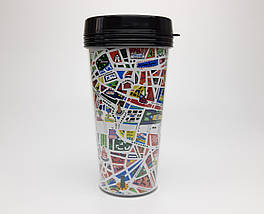 """Стакан для кави c подвійними стінками і кришкою """"Метро в Париж"""" - дорожній стакан для любителів Парижа"""