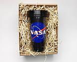 """Стакан для кофе c двойными стенками и крышкой  """"NASA"""" -  в подарочной крафтовой коробке, фото 2"""