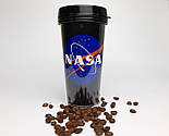 """Стакан для кофе c двойными стенками и крышкой  """"NASA"""" -  в подарочной крафтовой коробке, фото 6"""