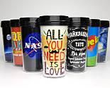 """Стакан для кофе c двойными стенками и крышкой  """"NASA"""" -  в подарочной крафтовой коробке, фото 9"""