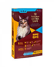 Капли от блох, клещей и гельминтов для кошек Palladium Golden Defence (Extra Safe) весом 4-8 кг