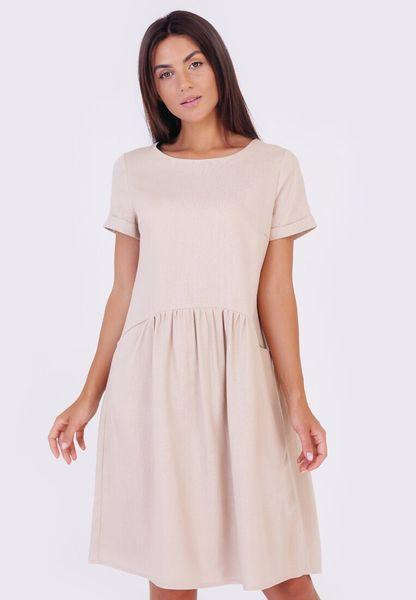Платье С Закруглённым Воланом Из Льна - 1849-S