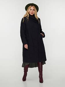 Пальто чорне CR-70P203-BLK