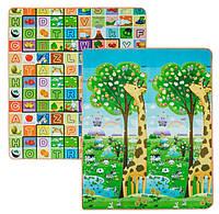 Дитячий двосторонній килимок Limpopo Велика жирафа і Барвиста абетка 150х180 см (LP018-150)
