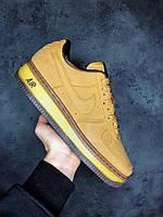 Кроссовки Nike Air Force Yellow\Brown Найк аир форс