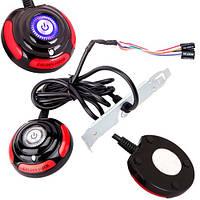 Кнопка включения питания ПК, выносная 160см, Power SW Reset, индикация, 101875