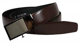 Чоловічий ремінь під штани пряжка автомат 4U Cavaldi коричневий