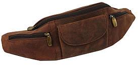 Шкіряна сумка на пояс, бананка Always Wild SP01CH коричнева