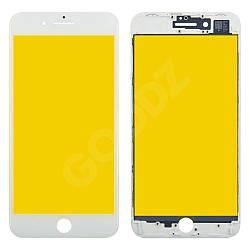 Стекло корпуса с рамкой для iPhone 8 Plus, цвет белый
