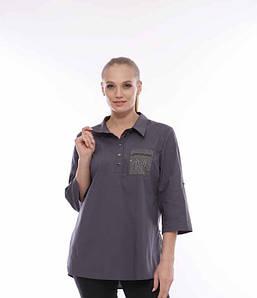 Подовжена сорочка CR-505308-BLU