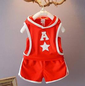 Костюм для хлопчиків річний A Star червоний