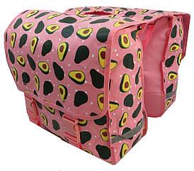 Вело сумка, велоштани 34 L Сrivit S061792 рожевий