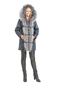 Куртка парку інтерлок CR-60109-GRY