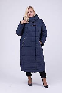 Пальто в пол CR-10697-BLU