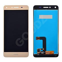 Дисплей Huawei Y5 II, Honor 5, Honor Play 5 (CUN-U29, CUN-L21) з тачскріном в зборі, колір золотий, у
