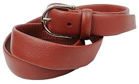 Женский кожаный ремень Farnese, Италия, SFA396 коричневый