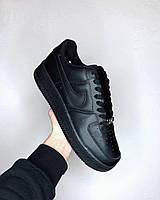 Кроссовки Nike Air Force All Black Найк аир форс реплика