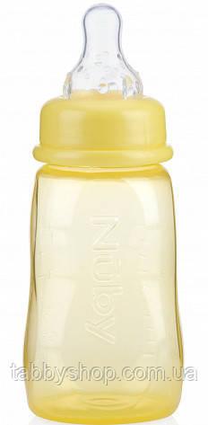 Пляшечка антиколікова NUBY зі стандартним горлом, середній потік, 150 мл (жовта)