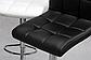 Барний стілець HOKER BONRO В 628 з Підставкою для ніг(120 кг навантаження) ЧОРНИЙ, фото 4