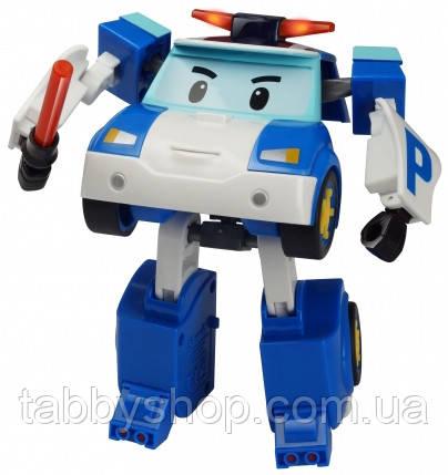 """Трансформер з підсвічуванням Robocar POLI Silverllit """"Полі"""", 13 см"""