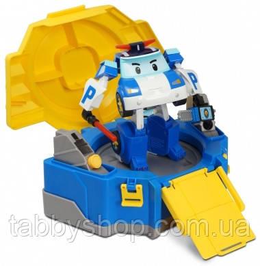 """Кейс-трансформер Robocar POLI Silverlit """"Поли с гаражом"""""""